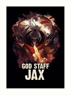 GOD STAFF JAX  More ARTWORKS --> https://linktr.ee/naumovski.dusan <--  #illustration #print #poster #art #games #gaming #caricature #gift #artwork #fanart #drawings #painting #canvas #popculture #artist #videogames #game #jax #leagueoflegends