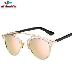 $5.28 (Buy here: https://alitems.com/g/1e8d114494ebda23ff8b16525dc3e8/?i=5&ulp=https%3A%2F%2Fwww.aliexpress.com%2Fitem%2FJinCool-Hot-Sale-2016-So-Fashion-Real-Mirror-Sunglasses-Women-Men-Brand-Designer-Vintage-Cat-Eye%2F32704595330.html ) JinCool Hot Sale 2016 So Fashion Real Mirror Sunglasses Women Men Brand Designer Vintage Cat Eye Sun Glasses Oculos de sol S285 for just $5.28