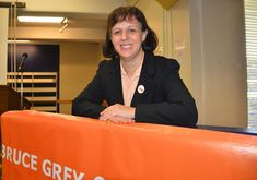 Karen Gventer promised people would come first after she was named the Bruce-Grey-Owen Sound New Democratic Party provincial candidate at a meeting Saturday in Owen Sound. (Scott Dunn/The Sun Times)