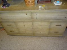 Mid Century Thrift Store find - possible buffet for dining room remodel? DIY paint to match- love the lines of the chest!
