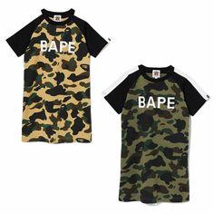 a078a3f9 (eBay Sponsored) A BATHING APE BAPE KIDS 1ST CAMO BAPE TEE ONEPIECE Dress  2colors