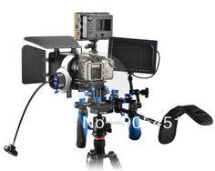 "Hot DSLR Follow Focus Shoulder Rig Kit +160-LED Video Light+7"" FW689 PEAKING Monitor For Camera 016474 $439.76"