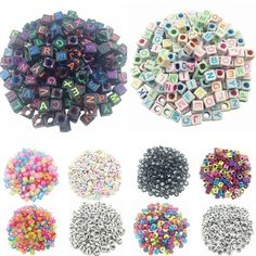 Item Type: BeadsFine or Fashion: FashionMaterial: AcrylicItem Shape: Square-shapeItem Weight: Various From Different SizesFit for : Bracelet Necklace Jewelry Making , etcHole Size: Square:3mm / Round:1mmItem Diameter: square:5.5*5.5mm / Round:3*7mmOuter Diameter: 4/6/8/10/12mm