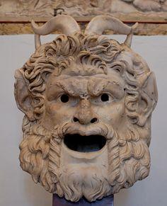 Roman Satyr mask