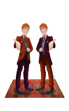 Freaking Fred and George Weasley In honor of April fools and their birthday!!!
