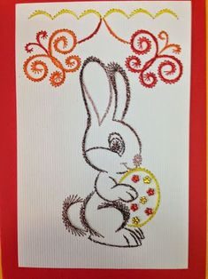 The Latest Trend in Embroidery – Embroidery on Paper - Embroidery Patterns Flower Embroidery Designs, Embroidery Patterns Free, Modern Embroidery, Card Patterns, Stitch Patterns, String Crafts, String Art, Paper Crafts, Embroidery Cards