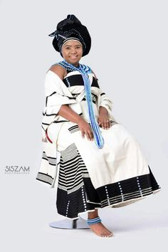 African Wedding Attire, African Attire, African Wear, African Dresses For Women, African Fashion Dresses, African Outfits, South African Traditional Dresses, Xhosa Attire, Shweshwe Dresses