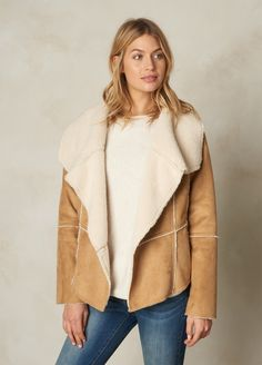 A shawl collar and an asymmetrical hem give the Townie Coat a boho vibe that can't be denied. Super soft faux suede and plush sherpa make it comfortable and cozy.  Head to prAna.com for more eco friendly basics to complete your capsule wardrobe for fall and winter.