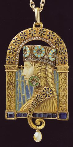 Spanish jewelry in Art Nouveau style.