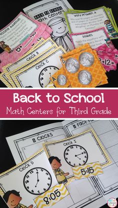 These back to school math centers are perfect for third grade. They can be used to teach math center procedures and assess skills that students should have learned in 2nd grade. Perfect for math workshop!
