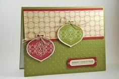 homemade cards ideas | Christmas Ornaments Adorn This Handmade Christmas Card