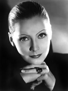 Greta Garbo was so beautiful and a Hollywood Legend. I love that her hair is slicked back.