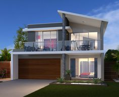 Two Story House Design, House Front Design, Modern House Design, Duplex House Plans, Modern House Plans, Large Homes Exterior, Split Level House Plans, Two Storey House, House Elevation