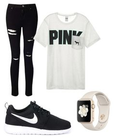 """Casual"" by giavannagugino on Polyvore featuring Miss Selfridge, Victoria's Secret and NIKE"