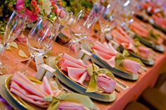 pink and green table setting Pink Green Wedding, Pink Wedding Theme, Pink And Green, Wedding Colors, Apple Blossom Festival, Wedding Decorations, Table Decorations, Wedding Ideas, Green Table