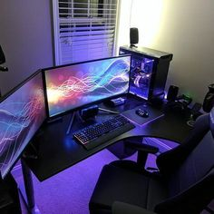 Wow this setup is fantastic! —————————————————————————————— ◽Photo Source: Reddit User - WOPRwithCheese —————————————————————————————— ◽Part List/Specs:⬇ —————————————————————————————— ▫CPU: i7 6800k ▫GPU: Asus Strix GTX 1080 ▫RAM: 64GB Corsair Dominator DDR4 ▫PSU: Corsair 1000w ▫Case: Enthoo Evolv tempered glass ▫Left Monitor: Asus Swift pg278q ▫Right Monitor: Acer Predator x34 Ultrawide ▫Keyboard: Corsair k95 RGB ▫Mouse: Asus Spatha ▫Mouse Pad: Razer Firefly ▫Speakers: Logitech 5.1…