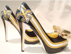 Saints fleur de lis high heels