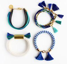 Nautical Bracelet Blue and White Chevron Rope by feltlikepaper found on Etsy.com