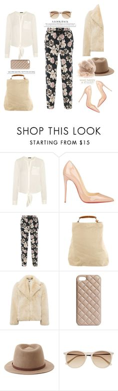 """Floral pants , never out of fashion..."" by gul07 ❤ liked on Polyvore featuring Theory, Christian Louboutin, Elizabeth and James, Balenciaga, Whistles, The Case Factory, Forever 21, White Label, Witchery and Botto Giuseppe"