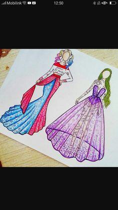 Harley Quinn and the joker Cute Disney Drawings, Pretty Drawings, Cool Art Drawings, Pencil Drawings Tumblr, Girl Drawing Sketches, Disney Princess Art, Disney Art, Hybrid Art, Harley Quinn Drawing