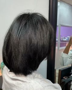 Blowout and cut on natural hair 🥰 💜 baby girl hair cutting styles videos - Baby Hair Style Short Hair Blowout, Short Hair Cuts, Short Hair Styles, Natural Hair Blowout, Undercut Hairstyles Women, Straight Hairstyles, Girl Hairstyles, Black Layered Bob Hairstyles, Relaxed Hair Hairstyles