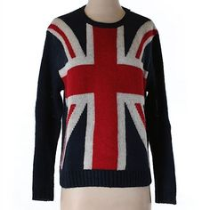 COMING SOON - Forever 21 Union Jack Sweater This super cute sweater is in like new condition! Forever 21 Sweaters Crew & Scoop Necks