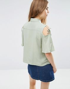 Image 2 ofASOS Casual Blouse with Tie Sleeve