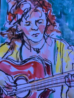 Jill playing the guitar 2016/09/21