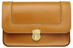 THE GOLDEN HEART clutch in London Tan by HANSON OF LONDON #clutch #fashion #leatherclutch #britishstyle #britishmade #madeinengland