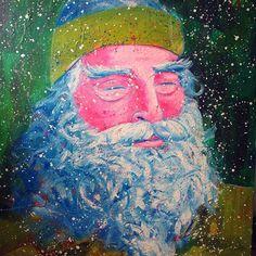 I have a feeling snow is going to come soon. #portrait #paint #hippie #art #artist #artistsoninstagram #artbysadie #instadaily #fun #snow