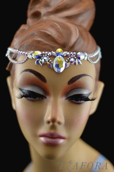 Ballroom jewelry and accessories. Ballroom Dance Hair, Ballroom Jewelry, Dance Accessories, Wedding Hair Accessories, Pole Dance Wear, Dance Makeup, Dance Hairstyles, Hair Decorations, Hair Jewelry