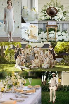 Vintage 20s wedding with soft yellow and gold as an accent colour