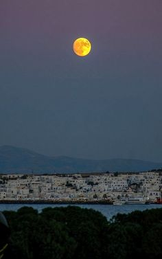 Naoussa at dusk, Paros Island, Greece