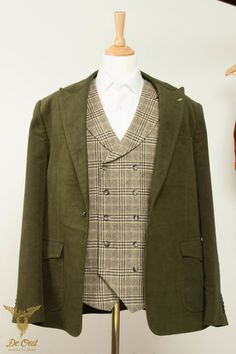 Moleskin Jacket, Double Breasted Wool Waistcoat — De Oost Bespoke Tailoring