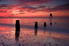 Sunrise at Dovercourt, Essex  Simon Tassell of Colchester, Essex.
