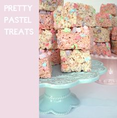 3 Tablespoons butter, 4 cups mini pastel marshmallows, 6 cups rice crispies