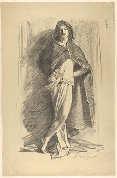 John Singer Sargent | Study of a Young Man in a Cloak, Standing | The Metropolitan Museum of Art