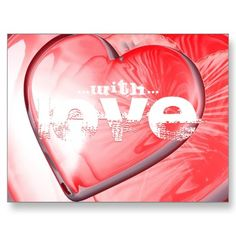 Love love love - Red HEARTS of love Postcards