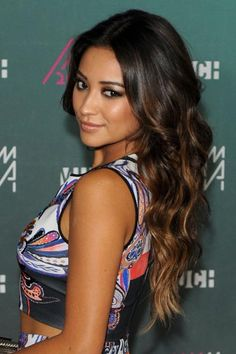 Blonde-dipped tips for Shay Mitchell.
