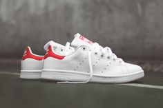 2bc28acc9219f9 adidas Originals Stan Smith OG (White Red) - Sneaker Freaker