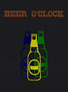 pop art beer o'clock   by sergeyt
