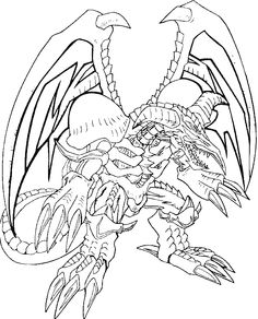 Black Skull Dragon Coloring Pages