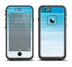 The Fading Light Blue Streaks Apple iPhone 6/6s Plus LifeProof Fre Case Skin Set from DesignSkinz
