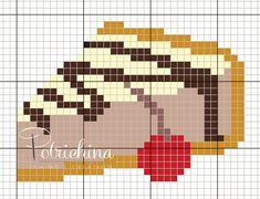Beaded Cross Stitch, Cross Stitch Flowers, Cross Stitch Patterns, Kawaii Cross Stitch, Pixel Art Grid, Pixel Art Templates, Cross Stitch Kitchen, Sewing Projects For Kids, Embroidery Hoop Art