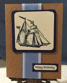 Birthday Boating Card by CraftyCardandWreaths on Etsy