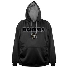 Big and Tall Oakland Raiders poly fleece pullvover hoodie Jacket #OaklandRaiders