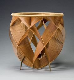 Shono Shounsai / shimmering of heated air, flower basket, ca. 1969