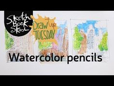 Welcome to Draw Tip Tuesday! Here are three simple techniques to use your watercolor pencils. Let's draw some house along the canals of Amsterdam while we pr. Watercolor Pencils Techniques, Watercolor Pencil Art, Watercolor Journal, Watercolour Tutorials, Watercolor Artists, Drawing Techniques, Watercolor Paintings, Drawing Tutorials, Types Of Pencils