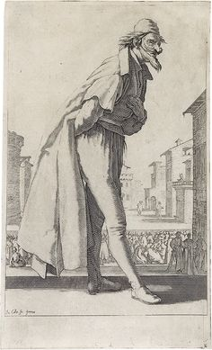 Le Pantalon ou Cassandre, from the Three Pants also called the Three Actors (c.1620)