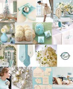tiffany-blue-white-silver-winter-wedding-inspiration initials on ties Tiffany Blue Weddings, Tiffany Wedding, Wedding Themes, Wedding Colors, Wedding Decorations, Wedding Ideas, Aqua Wedding, Disney Decorations, Blue Bridal